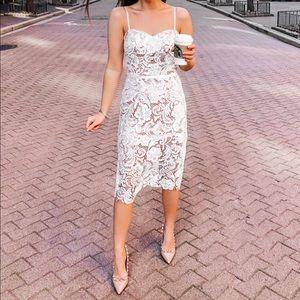 David's bridal Paisley Lace Illusion Sheath Dress